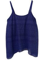 Womens Layered Crochet Tankini Swim Top Lace Swimwear Handkerchief Hem Size XL