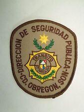 Vintage Mexico Direccion De Seguridad Publica C.D Obregon Son Transito Patch
