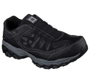 Skechers 4E WIDE 77161 Men's Work: Crankton Ebbitt Steel Toe Shoe Black A1