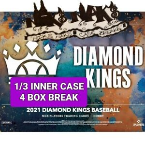 WASHINGTON NATIONALS 2021 DIAMOND KINGS BASEBALL 1/3 INNER CASE 4 BOX BREAK #17