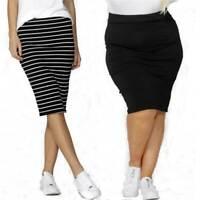 Midi Skirt Alicia Betty Basics Plus Sizes 10 12 14 16 18 20 22 Black White Knee