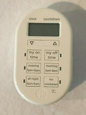 GE My TouchSmart 26892 Indoor Plug In Digital Timer White
