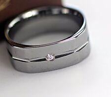 NEW Tungsten Wedding Band Diamond Ring Mens Genuine H Si .09carat 2.8mm Sz8-12