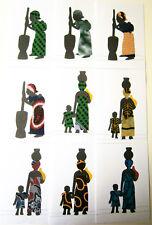 """Künstlerkarte """"Frau mit Kind"""" - Fotokarton/Stoff - DIN A 6 - Motiv auswählen"""