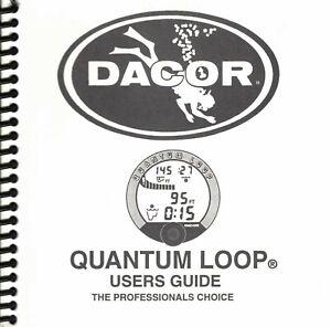 Dacor Quantum Loop Scuba Dive Puck Computer Printed Manual