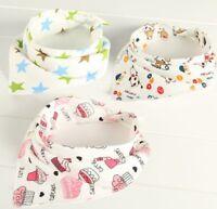 4PCS Infant Boy Girls Bandana Bibs Triangle Head Scarf Saliva Towel Dribble WE9Z