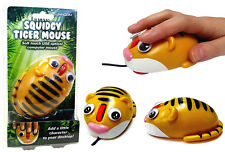 Squidgy Tiger Soft Touch Mouse For Laptop Desktop - USB Optical - Windows or Mac
