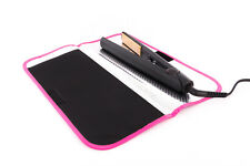 Mateque Pink Rim Travel Heat Proof Mat & Travel Pouch for GHD Hair Straighteners