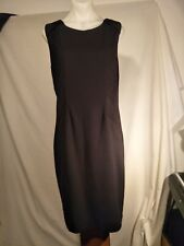 Howard Showers Ladies Vintage Dress in a Black with Textured Panels Size 10