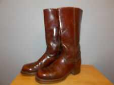 Vintage Levi's Brown Leather Western Campus Boots Size 8 1/2 M