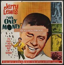 Original 1962 IT'S ONLY MONEY 6 Sheet JERRY LEWIS  MAKE OFFER!!!!