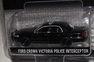GREENLIGHT BLACK BANDIT FORD CROWN VICTORIA POLICE INTERCEPTOR, 1:64, NIB