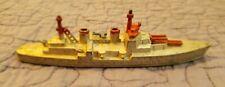 Tootsietoy Battleship Diecast Toy Navy Boat with Plane on Deck, original wheels