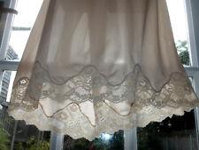 Vintage Charnos Lightweight Nylon Stunning Deep Lacy Half Slip Underskirt UK20