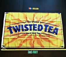 New listing Twisted Tea Flag Free First Class Ship Yellow Twisted Tea White Claw New Banner