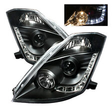 Fit Nissan 03-05 350Z Black DRL LED Projector Headlights Lamp FairLady