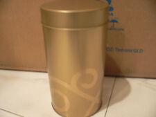 TEAVANA/STARBUCKS 16 Oz Airtight Tea Tin Gold - Lot of 12 - New - Hard To Find