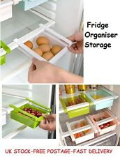 Fridge Organiser Storage Baskets Plastic Kitchen Food Containers Drawer Box Tray