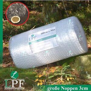 Luftpolsterfolie Große Noppen 100 cm  30 m Noppenfolie Verpackungsmaterial Rolle