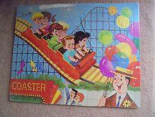 Vtg Built Rite Puzzle Sta-N-Place Kids Roller Coaster Balloons Fair 1960s Puzzle