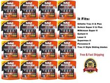 270 Supermax II Blades fit Gillette Schick Trac Plus Razor Twin Cartridge Refill