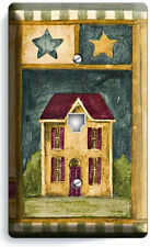 RUSTIC OLD AMERICANA COUNTRY HOUSE STARS PHONE JACK TELEPHONE COVER WALL PLATE