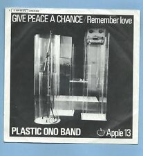 "PLASTIC ONO BAND - APPLE 13""GIVE PEACE A CHANCE / REMEMBER LOVE"" (GERMAN SLEEVE)"