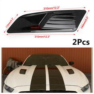 2x Air Intake Trim Covers Racing Car Hood Scoop Vent Roof Decorative Accessories