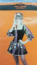 Sexy Jester Halloween Costume Women's Adult Small 4-6