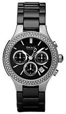 Nuevo Dkny NY4983 señoras reloj de cerámica negra y plateada - 2 Año De Garantía