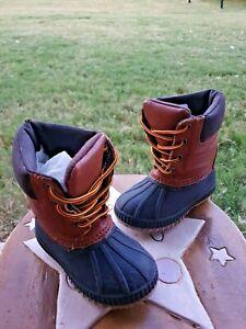 Gap Duck Boot Black/Brown Toddler 5/6
