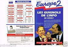 Publicité Advertising 1993 (2 pages) radio Europe 2 Les Guignols