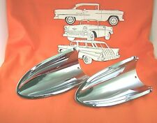 1957 Chevy Hood Scoops Chrome Made In USA  Belair Sedan Hardtop Nomad Wagon