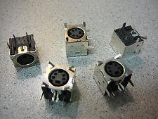 ADAM TECH Mini-DIN JACK R/A Full Shield w/Panel Ground Tabs  **NEW**  5/PKG