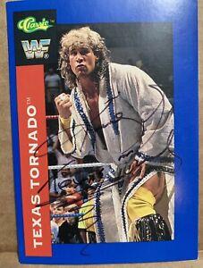 Texas Tornado #71 1991 Classic Autographed Signed Wrestling Card WF WWF WWE