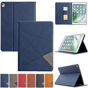 Shockproof Smart Leather Folio Stand Case Cover Card Slots For Apple iPad Models