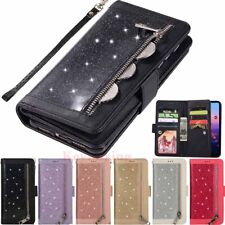 For Huawei Mate 20 Pro P20 Lite Bling Leather Wallet Card Holder Flip Case Cover