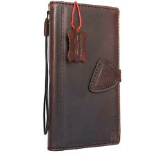 Genuine vintage leather case for LG G6 book wallet magnet cover slim brown thin
