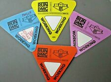 Beastie Boys & Run Dmc satin cloth backstage passes 4 Authent!C 4 Triangles !