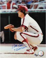 Bob Boone Signed 8X10 Photo Autograph Phillies Catching no Gear w/COA