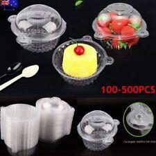 100x Recipientes de Alimentos Con Tapas Desechable de Plástico Para Ensalada