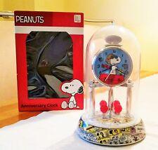 Snoopy / Peanuts - Kamin Pendel Uhr Glas Dome Anniversary Clock USA / Neu & OVP