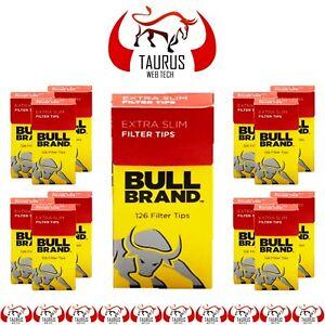 2520x BULL BRAND New Extra SLIM FILTER TIPS Cigarette Tobacco Rolling Smoking UK