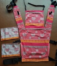 Lenny lamb full buckle carrier SSC wrap conversion by Zebedee in Cherry Lace
