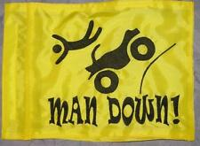 Custom MAN DOWN! ATV Safety Flag  for  ATV UTV dirtbike Dune Whip Pole