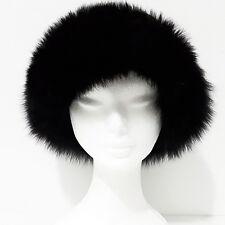 Cappello Pelliccia VOLPE Pelo Lungo TGL 57 bianco panna colbacco art. G177