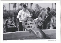 "*Postcard-""Splash's One-Man Band"" (Dolphin/Drums) *Marineland, Florida  (#246)"