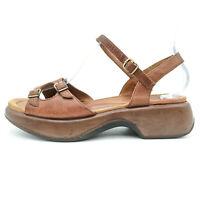 Dansko Brown Leather Buckle Open Singback Sandals Women's 8.5 - 9 / 39