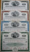 Connecticut General Mortgage & Realty SPECIMEN Bond Certificates - 4 DIFFERENT A