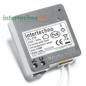 Intertechno Wireless Dimmer itl-210, Max. 210 Watt, World Patent in 2-wire technology
